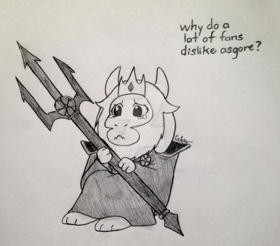 Poor Asgore by Calibriatheskeleton