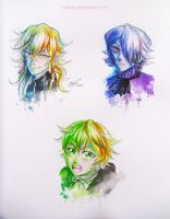 PH: Vincent, Xerxes, and Oz Watercolor by Malfey