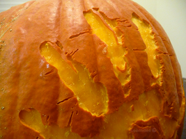 Blood Pumpkin Detail by ceemdee