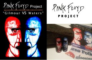 Pink Floyd NailArt 'Gilmour VS Waters' by sams-originails