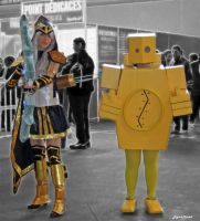 Ashe and Blitzcrank by digitalminded