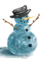 Snowman by Little-Blue-Buggy