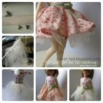 Circle Skirt and Tutu for BJD by Snowfern