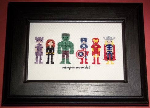 Avengers Assembly Cross Stitch by chujo-hime