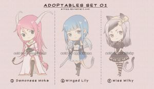Adoptables Set 01 - Closed by arhiee