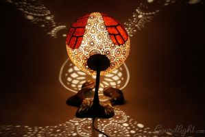 Handcrafted gourd lamp - Table lamp IX- Gourdlight by gourdlight