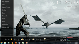 Skyrim Rainmeter Theme Battery Meter by RunsWithMutts