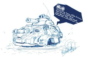 QuickSketch MK-06 Light Tank by metalkid