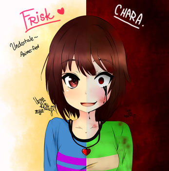 Frisk and Chara - Undertale by KittyBelladonna