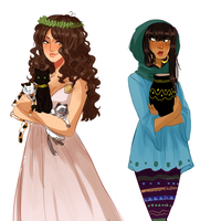 Pretty Mediterranean ladies by NerdyJones