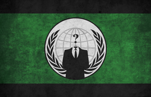 Anonymous Grunge Flag by BullMoose1912