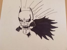 Batman arkham origins little big head by BruceAKABatMan
