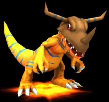 Rigged Greymon Model by TheDigital6