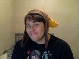Wearing Rachet and Clank hat *watching Spiderman* by TheToxicDoctor