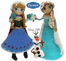 Disney's FROZEN - Elsa, Anna, Olaf Crochet SET by MissyBaque