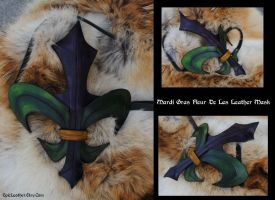 Mardi Gras Fleur De Lis Mask by Epic-Leather