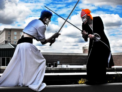 Grimmjow versus Ichigo part 2 by KittyGoku