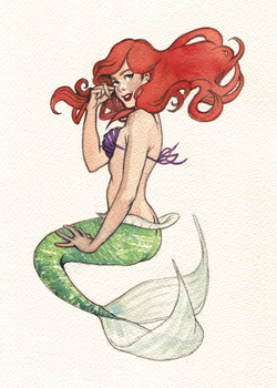 Ariel Pin-Up Pre-Tattoo by characterundefined
