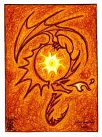 ACEO -Sunfire Dragon- by CrescentMoon