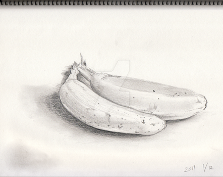Banana Sketch by theblindalley