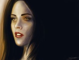 Bella/Kristen Portrait: Dawn by TheSearchingEyes