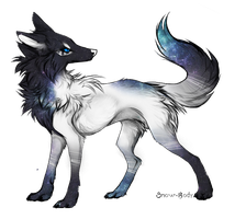 Galaxy Wolf Adoptable [CLOSED] by FaggotAdopts