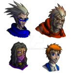 Mass Effect Portraits COLOR by dalubnie