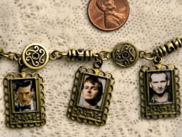 Doctor Who 9th 10th and 11th Brass Charm Bracelet by elllenjean