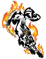 SolarFlare (Demetri) Flaming Tribal by I-WhiteFire-I