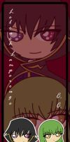 Lelouch and C.C. Bookmark by Malindachan