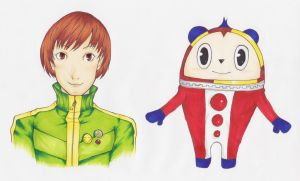 Chie and Teddie by EmailinasBrother