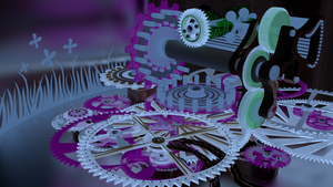 Gear-Set Concept Rendering, color experiment. by Intel-Qube
