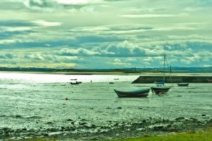 Lindisfarne Harbour by scribbleXcore