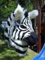 Zebra Mask ON AUCTION by RiiThePup