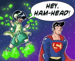 Toph Vs. Superman by Thinston