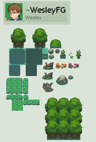 Comission marshlands Tileset by WesleyFG
