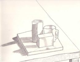 Still Life Drawing by MomTooThree