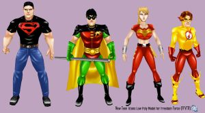 New Teen Titans Game Models by IUltrahumanite
