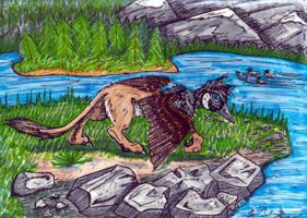 Canadian gryphon by salientskivvy