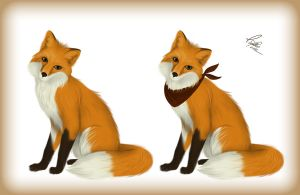 Just a cute fox by 13paulis