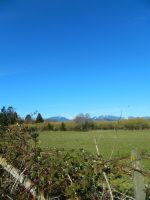 The farm fields and distant mountains~ by Mathayis