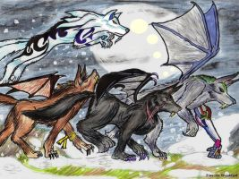 Flying with the Pack by Farumir