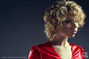 Woman in the red dress by lowtekphoto