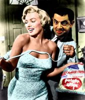 Mr Bean and Marilyn Monroe by mamys