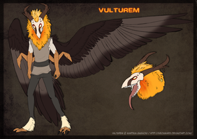 Vulturem Reference Sheet by pandalecko