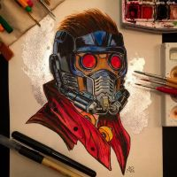 Star Lord Watercolor by APetrie74