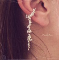 Silver ear cuff by AmeliaLune