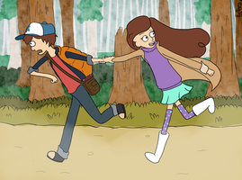 Dipper And Mabel by BethanyBubbles
