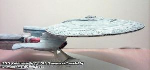 Enterprise-D papercraft by ninjatoespapercraft