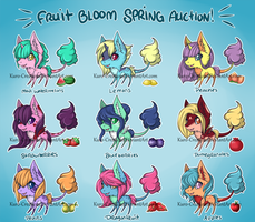 Spring Into Cuteness! Fruit Bloom Auction: CLOSED by Kuro-Creations